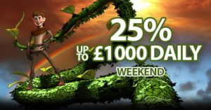 25% Match Up to £1000 Daily promotion