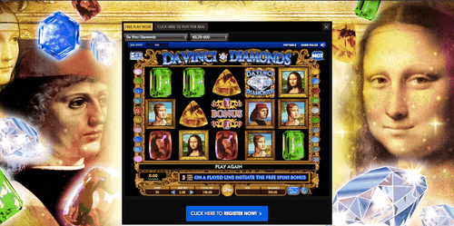 davinci diamonds online slot